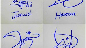 Different Signatures For My Name