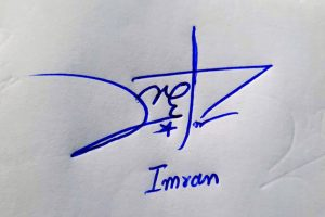 Imran Name Online Signature Styles