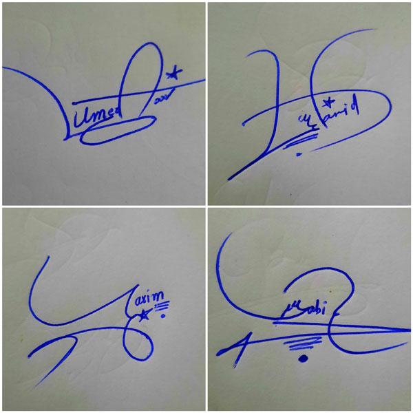 Signature Sample Of My Name