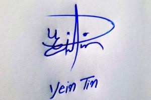 Yein Tin Name Online Signature Styles